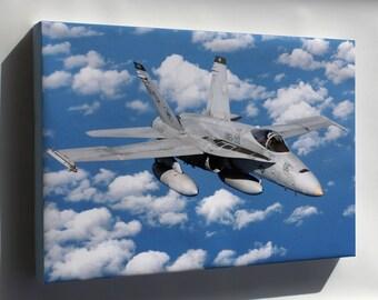 Canvas 16x24; Fa-18 Hornet