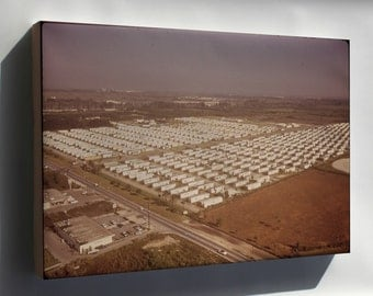 Canvas 16x24; Huge Trailer Park Encroaches Upon The Boundaries Of The Everglades National Park Nara 544629
