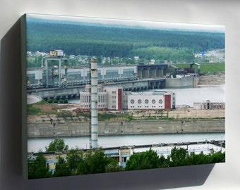 Canvas 16x24; Hydroelectic Power Station In Naberezhnye Chelny