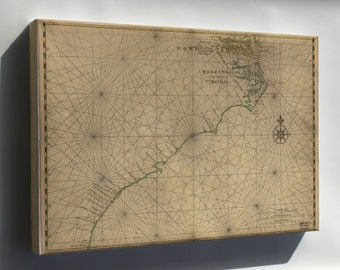Canvas 16x24; Map Of Chesapeake Bay To Florida 1639 In Dutch