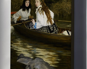 Canvas 16x24; James Tissot On The Thames, A Heron