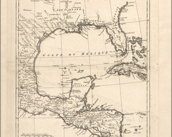 16x24 Poster; Map Of Gulf Of Mexico 1788