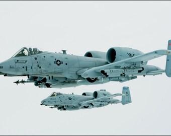 16x24 Poster; A 10 Thunderbolt In Flight