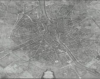 16x24 Poster; Turgot Map Of Paris France 1736