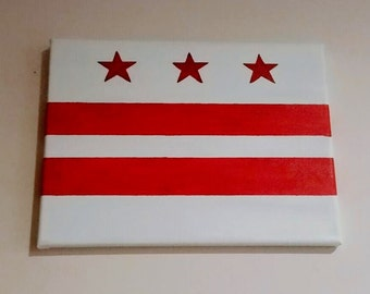 Washington, DC Flag - Custom Painting
