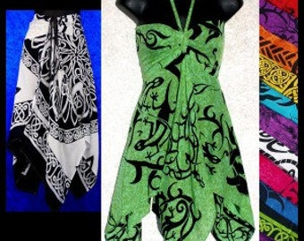 Celtic Convertible top/cover-up/top/dress/resort wear/sun dress/blouse /gypsy /hippie/festival