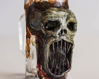 Monster Beer Mug Teeth bloody Undead Ghoul
