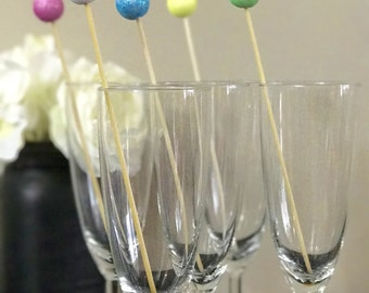 Easter Drink Stirrers- Drink Stirrers-Pastel-Glitter-Bridal shower-Holiday-Birthday-