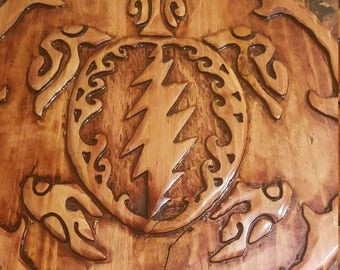 grateful dead turtle carving
