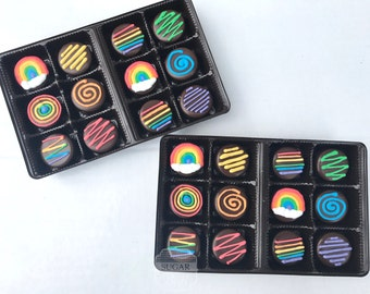 Rainbow Mini Chocolate Covered Oreos