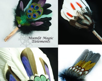Build Your Own Smudge Fan Large/ Customizable Feather Fan