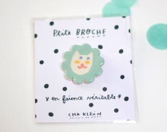 Brooch *Cat with yellow cheeks*