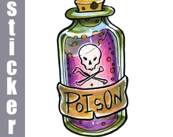 Poison Bottle Sticker