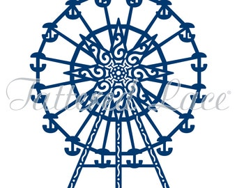 Ferris Wheel , Riesenrad (D340) Tattered LACE Dies