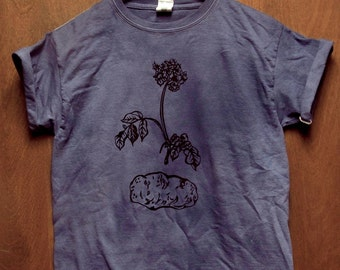 Potato Shirt, Screen Printed Vegetable T-shirt