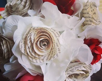 Faux wedding bouquets and boutonnieres