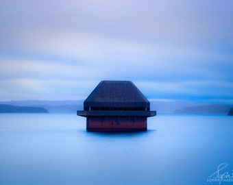 Ethereal art, blue, wall art, abstract canvas, landscape photography, inspirational, oversized, fine art photography, water, nature, Kielder