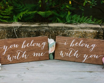 I belong with you signs, chair signs Mr and Mrs Signs, Mr and Mrs Chair Signs, Mr and Mrs, Wooden Wedding Signs, Mr Mrs signs, you belong