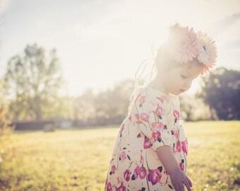 Giana Floral Linen Dress