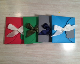 Gift Card Holder with Bow Closure- FREE SHIPPING