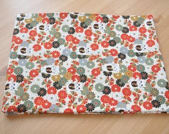 Japan lucky cat  Fabric 1/2 yard