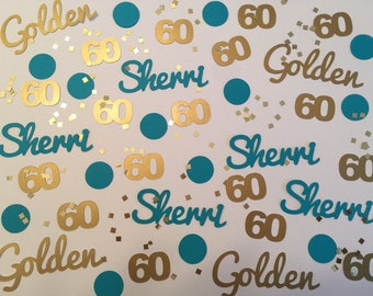 60 is Golden - Custom 60th Birthday Party Personalized Confetti