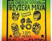 Phish Mexico 2016 Linocut