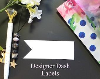 Designer Dashboard - Flag Banner Label Stickers - Travelers Notebook, TN, Dashboards 2188