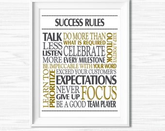Success Quotes Office Wall Art Printable Office Teamwork Quotes Motivational Wall Decor Cubicle Decor Office Poster Sayings Work Hard Quotes