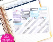 A39E Stay Wild Bottom Washi and Functional Box Life Planner Stickers!!  Perfect for the Erin Condren Life Planner!!!