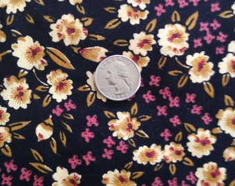 3 Yards 100% Cotton Fabric Floral Print