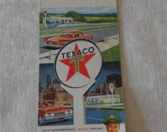 Vintage 1964 Texaco Louisiana road map