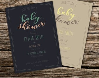 Vintage Style Baby Shower Invitation