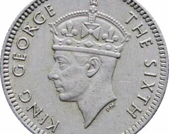 1950 Malaya 5 Cents George VI Coin