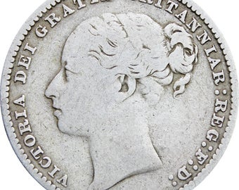 1879 Shilling Victoria Queen Great Britain Silver Coin British