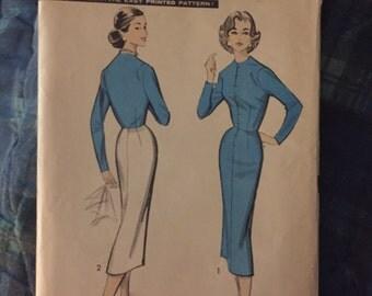 1950's Vintage Advance dress pattern # 8350- size 14