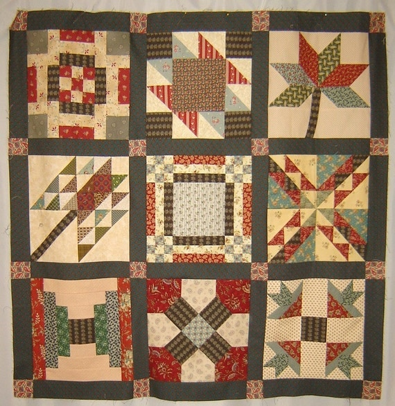 WESTERING WOMEN Historical Quilt Pattern BOM Sampler, Paper pattern through the mail. 12 blocks named for Western trails. American History
