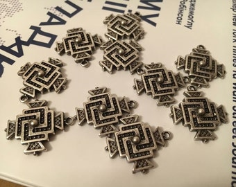 Metallic crosses 10 pcs