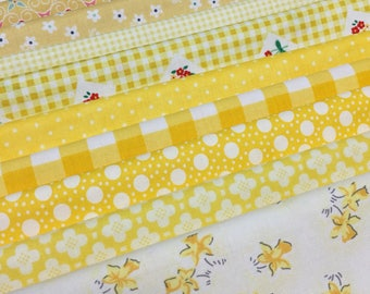 Lemon yellow fat quarter bundle