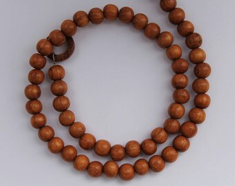 "Beads, 16"" Strand, Bayong Wood or White Wood, 8mm"