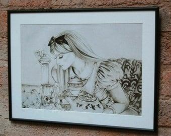 Alice In Wonderland Framed Print Curiouser & Curiouser
