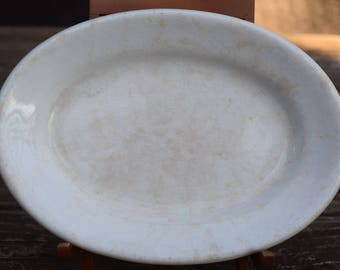 Small Vintage Ironstone Platter Marked West End Pottery of Ohio Active Photos