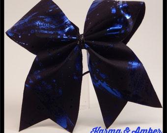 Black & Blue Cheer Bow