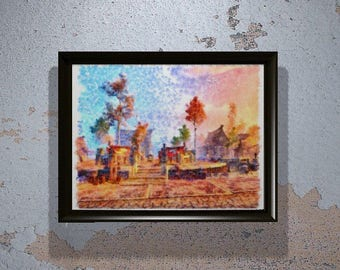 Skyrim Print, Riften Print - Skyrim Wall Art - Skyrim Gift - Watercolor - Skyrim Art - Video Game Decor - Elder Scrolls