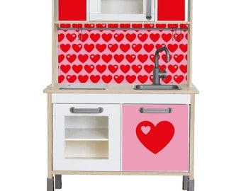 """Play kitchen sticker set """"byGraziela"""": Suitable for Ikea DUKTIG toy kitchen (1W-SK09-01) - Toddler gift - Ikea hack - Furniture not included"""