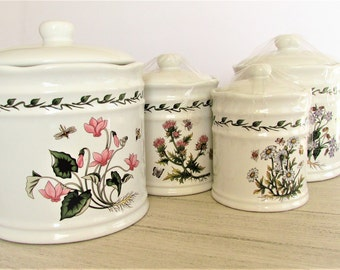 Lillian Vernon Floral Kitchen Cannisters