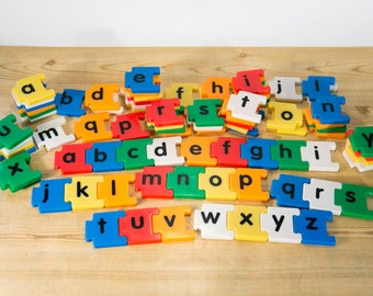 Snap Together Alphabet Magnets ~80 Pieces #1