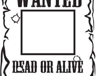 WANTED SVG FILE