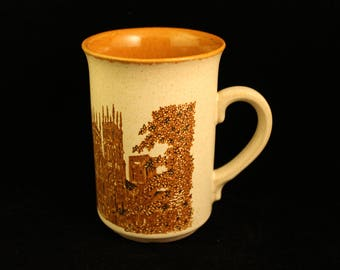 Vintage York Minster Cathedral England Coffee Mug Tea Cup Stoneware Ashdale Pottery