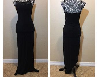 Vintage Black Prom Dress